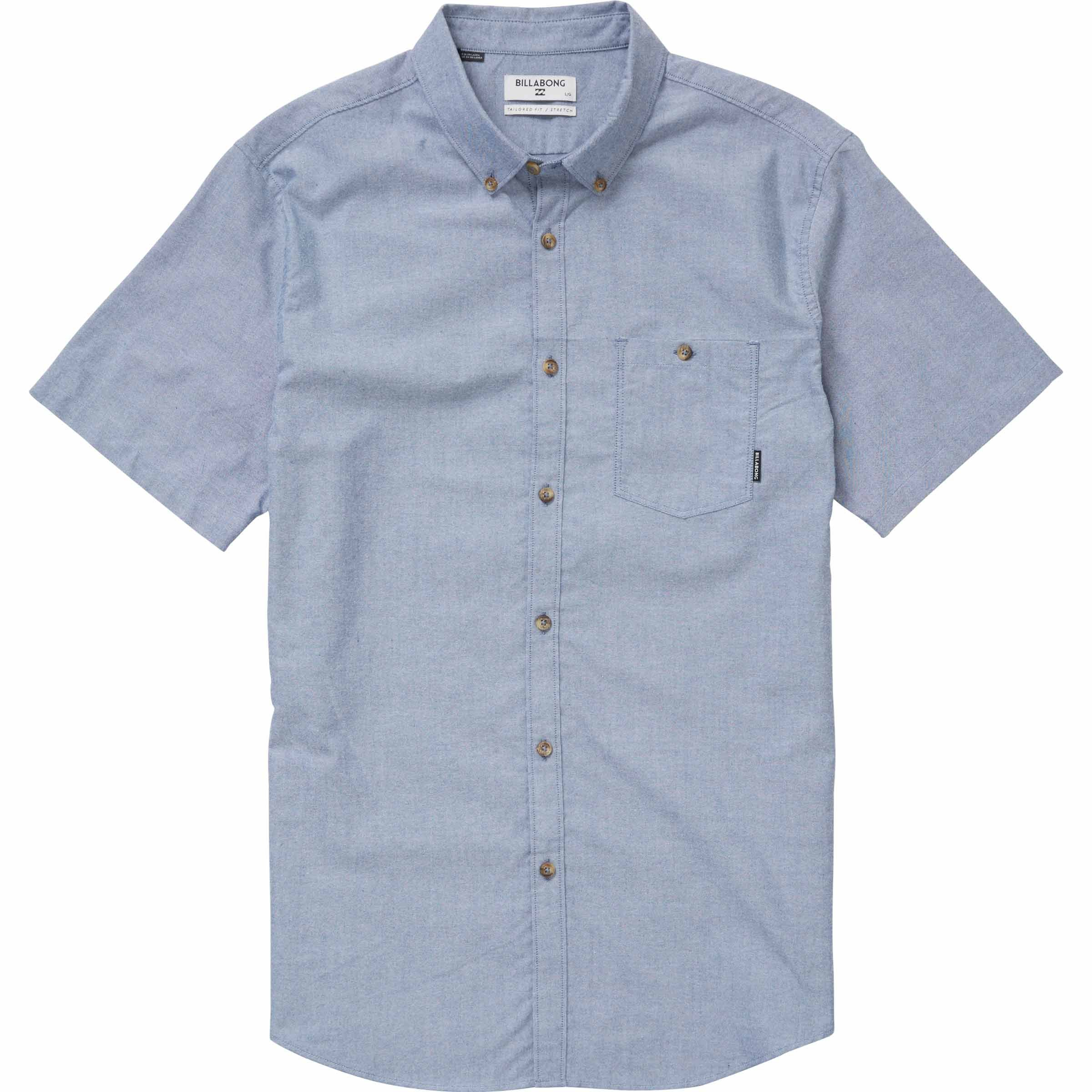 Billabong Men's All Day Oxford Short Sleeve Shirt, Blue, XL by Billabong (Image #1)
