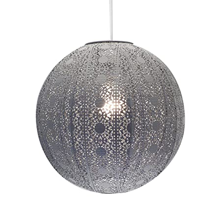 Moroccan Style Chandelier Dark Grey Ceiling Light Shade Fitting
