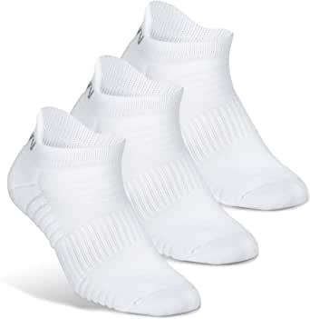 VWELL Athletic Running Socks for Men Women Thick Cushion Low Cut Sports Ankle Socks