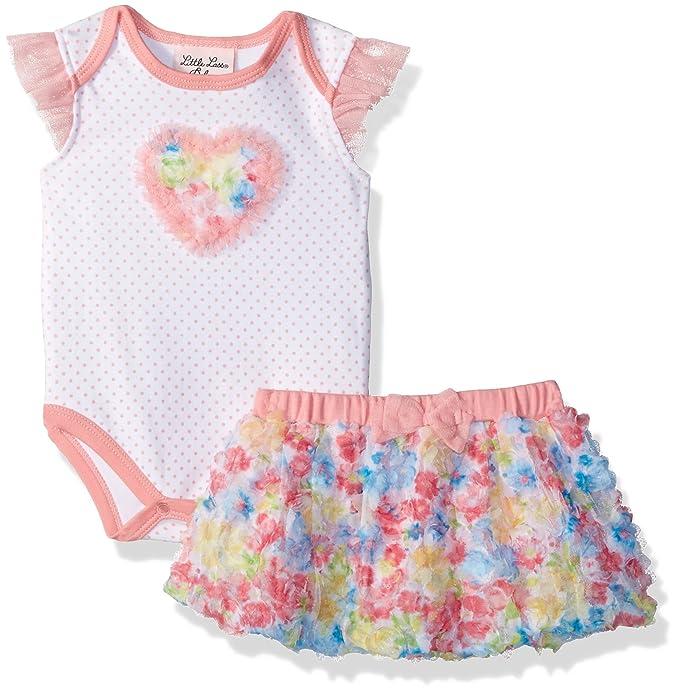 Amazon.com: Little Lass bebé niña 2 pieza rosetón Tutu ...