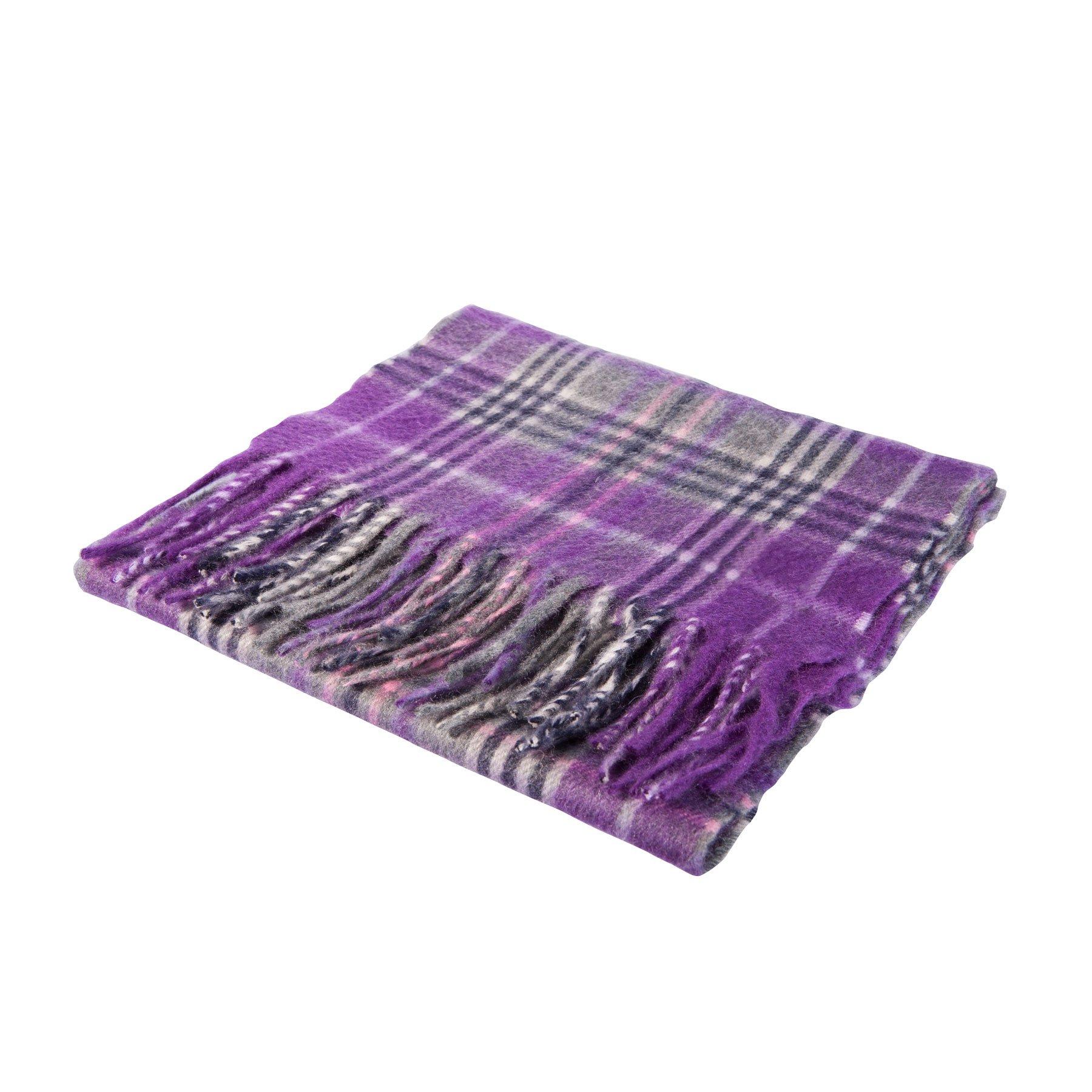 Dunedin Pure 100% Extra Fine Cashmere Scottish Tartan Scarf Orrin/Purple-Grey (N/A)
