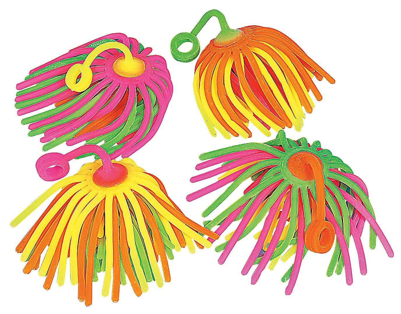 Neon Large Stretchy Noodle Yo Yo 12 ct [Toy]