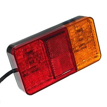 2er Set LED Rückleuchte Anhänger Blinker Rücklicht Bremslicht ...