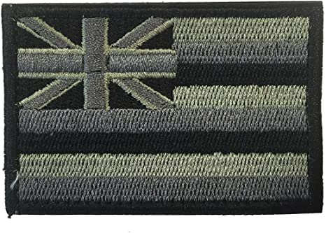 Black Tactical State Patch Hawaii