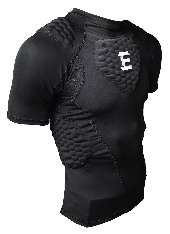 EliteTek パッド入りコンプレッションシャツ ユース/大人用サイズ CPS14 B00OGVTA32 ブラック Youth L