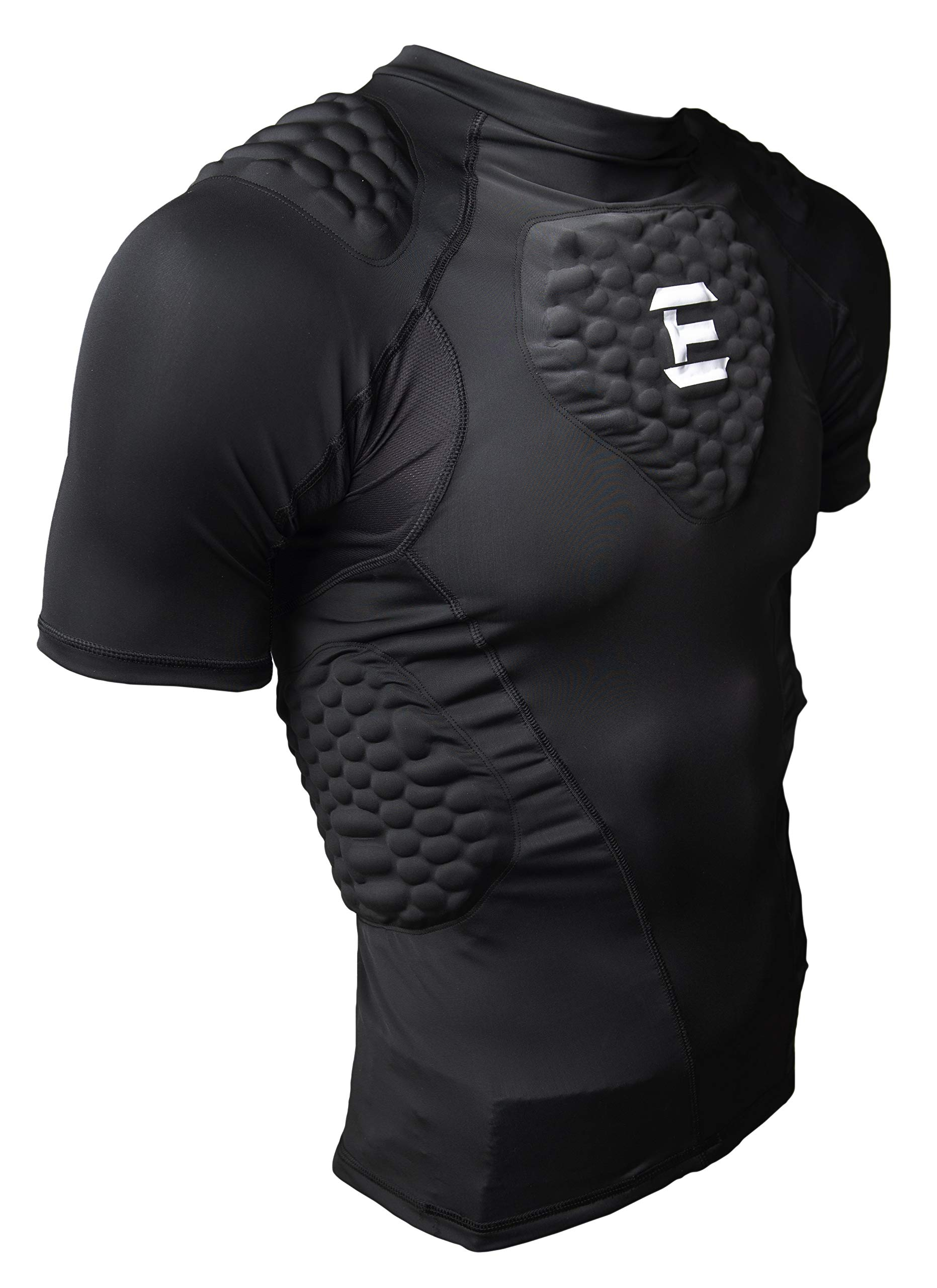 EliteTek Padded Compression Shirt - CPS14 - Youth and Adult Sizes (Black, Youth XS)