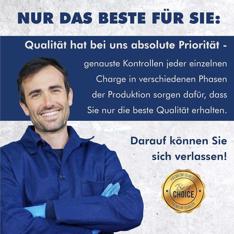 GARSIDURO/® 4 St/ück Profi Schlauchschellen 8-12mm W4 Industriequalit/ät DIN3017 4, 8-12 mm Durchmesser