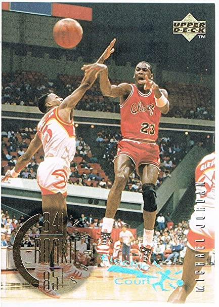 1995 96 Upper Deck Electric Court 137 Michael Jordan Rookie Year 84