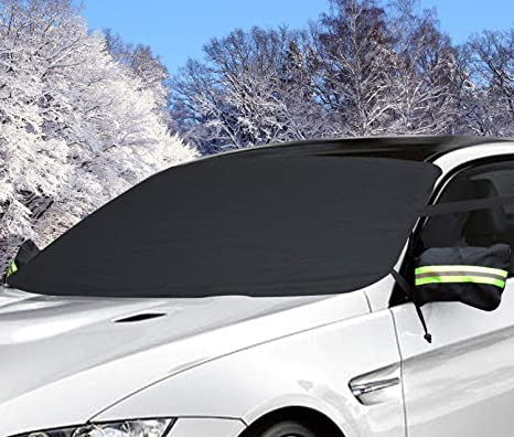 Parabrisas Remoción de cubierta de nieve, auperto hielo limpiaparabrisas Visor Pantalla con cubierta de espejo