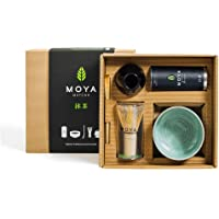 Biologische Moya Matcha Groene Thee Set   Pakje van 30g Premium ceremoniële kwaliteit(I) + Kommetje + Klopper + Houder…