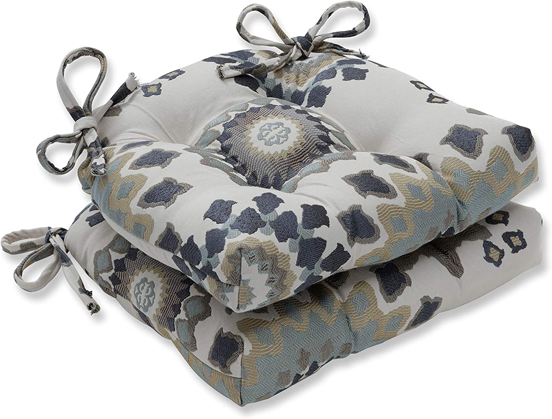 Pillow Perfect Marais English Garden Reversible Chair Pads (Set of 2), 16