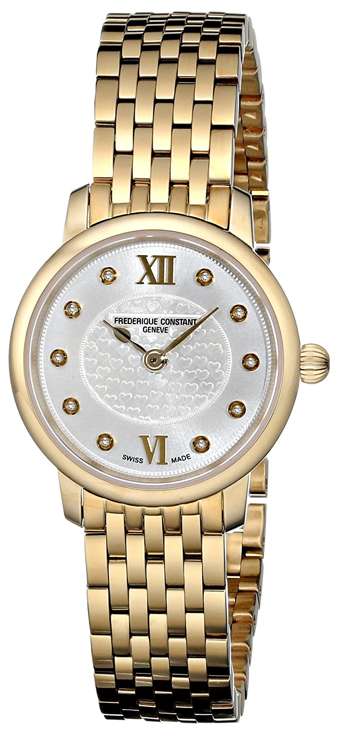 Frederique Constant Women s FC-200WHDS5B Slim Line Yellow Goldtone Stainless Steel Watch