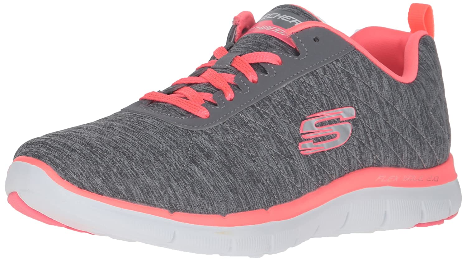 Skechers Women's Flex Appeal 2.0 Sneaker B01EOUW8RE 10 W US|Gray Coral
