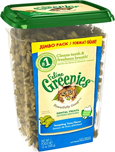 Feline Greenies Dental Treats For Cats Tempting Tuna Flavor 12 Oz. With Natural Ingredients Plus Vitamins, Minerals, And Other Nutrients Discontinued By Manufacturer