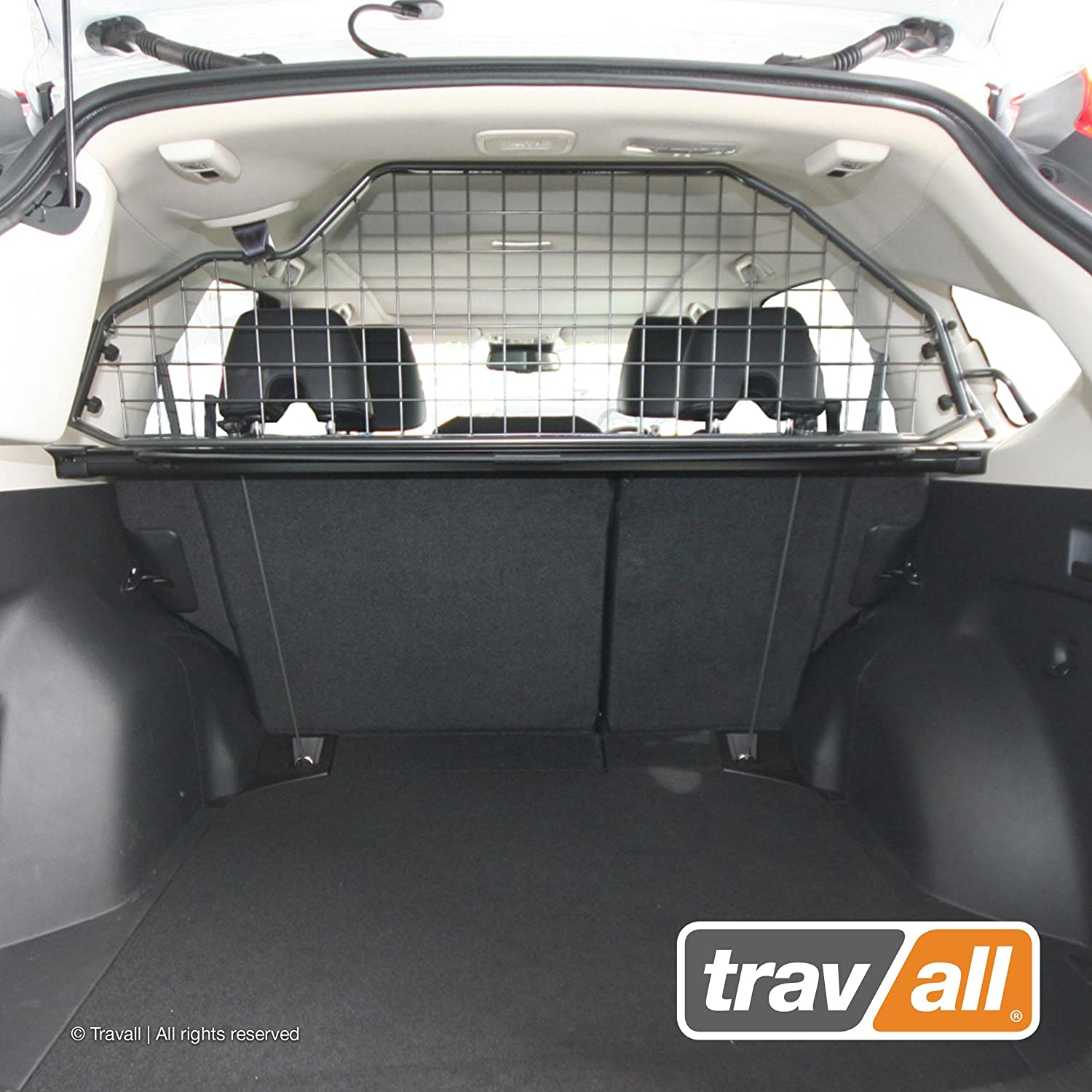 Travall Guard Compatible with Volkswagen Golf Wagon Without Sunroof 2013-Current Golf Alltrack 2015-Current TDG1407 – Rattle-Free Steel Pet Barrier