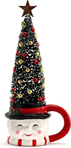 Mr. Christmas Mug with Sisal Tree - Snowman Christmas Décor, Multi