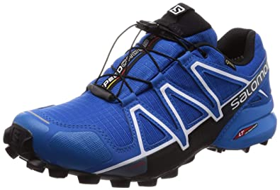 new products 30420 72fe0 Salomon Men s Speedcross 4 GTX Trail Shoes Sky Diver Indigo Bunting Black 8