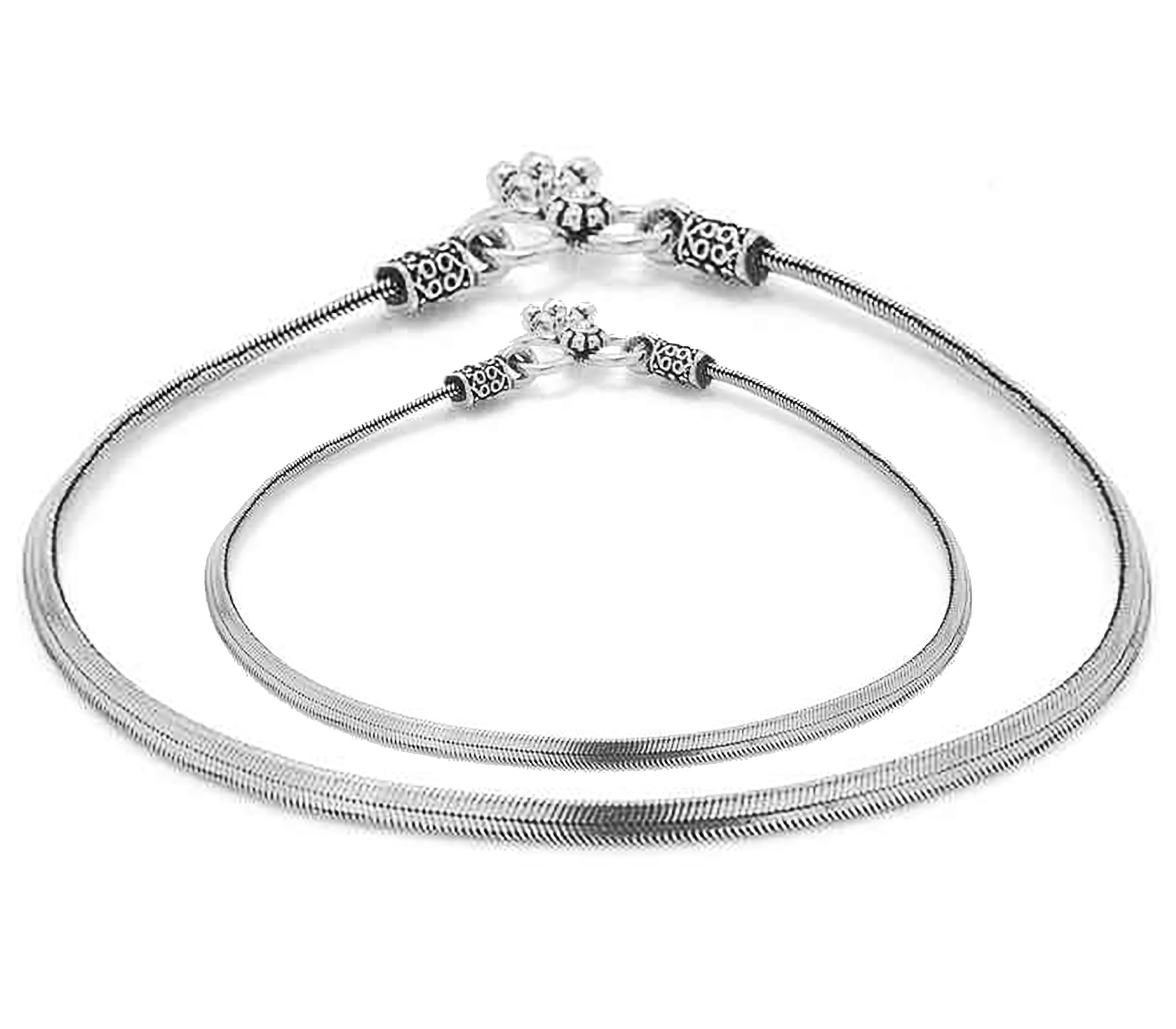 D&D Crafts Sterling Silver Anklets for Women For Girls, Women by D&D (Image #1)