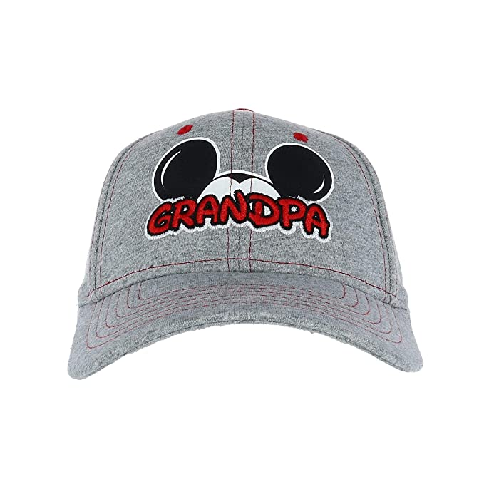 2e6bd3ad8d6 Disney Men s Mickey Mouse Grandpa Fan Baseball Cap