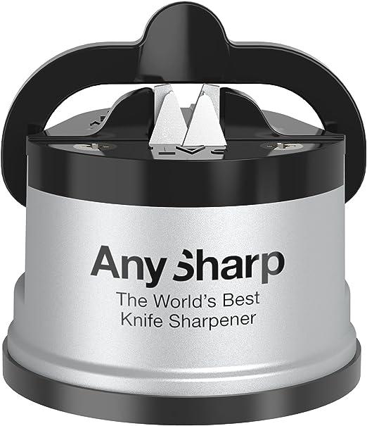 Amazon.com: Afilador de cuchillos AnySharp, Plateado ...