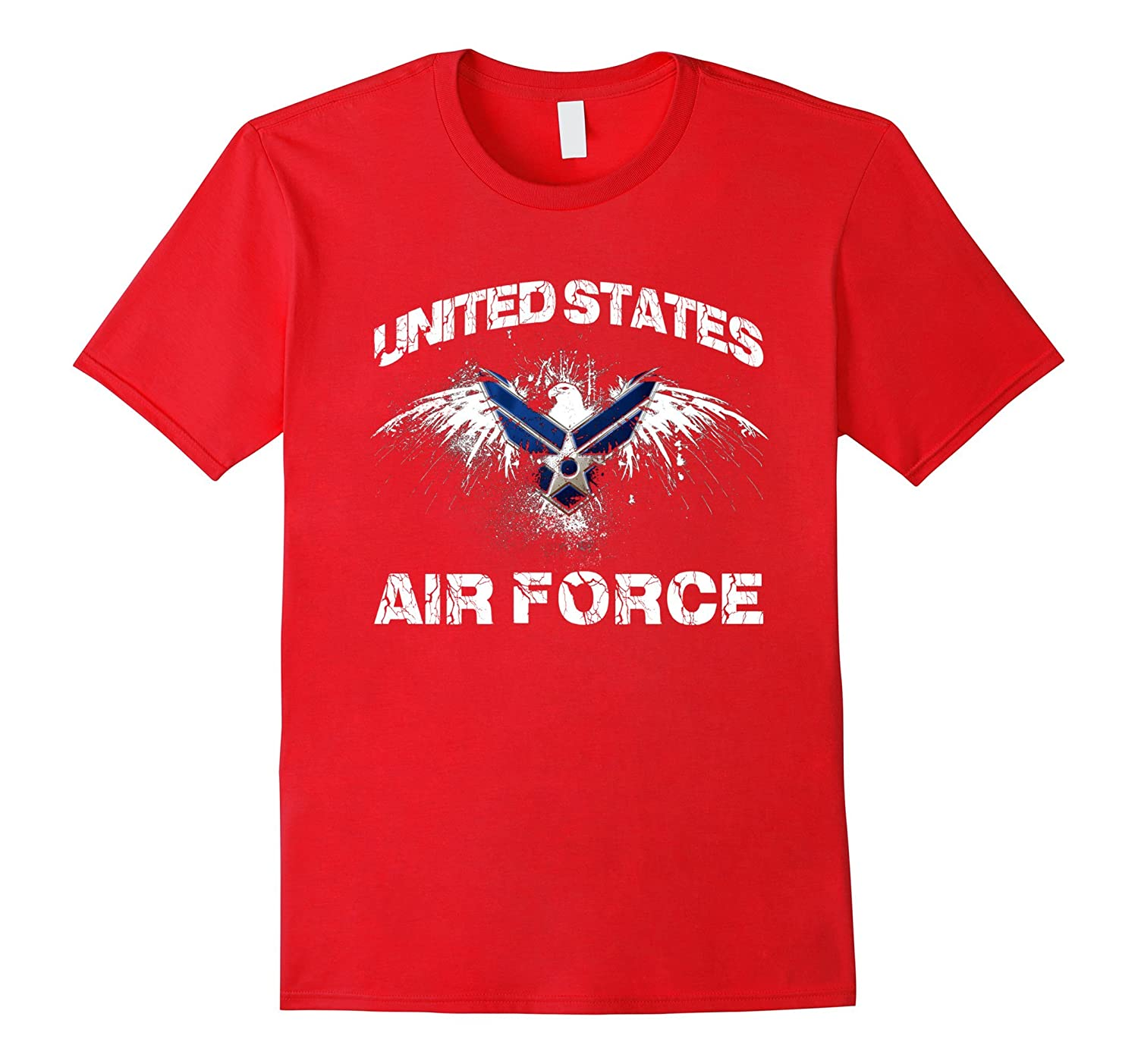 Armed Forces Gear Mens Air Force Vintage Basic T-Shirt-PL