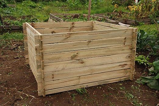 De madera jardín Tacho residuos Compost Bin Residuos de Jardín al ...