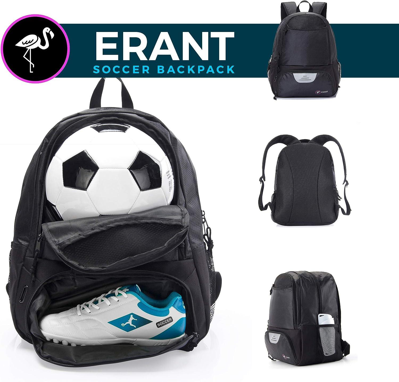 ERANT Soccer Bag – Fußball Rucksack für Jungen – Fußball Taschen mit Ballhalter – Fußball Rucksäcke – Fußball Tasche für Mädchen – Mädchen Fußball