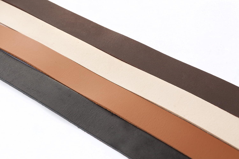 Correa, de plano Lederriemen 20 x 2 mm. Negro de 1 metros