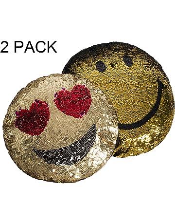 Cojines con lentejuelas, incluyendo almohadas, almohadas decorativas en forma de corazón con reversión de