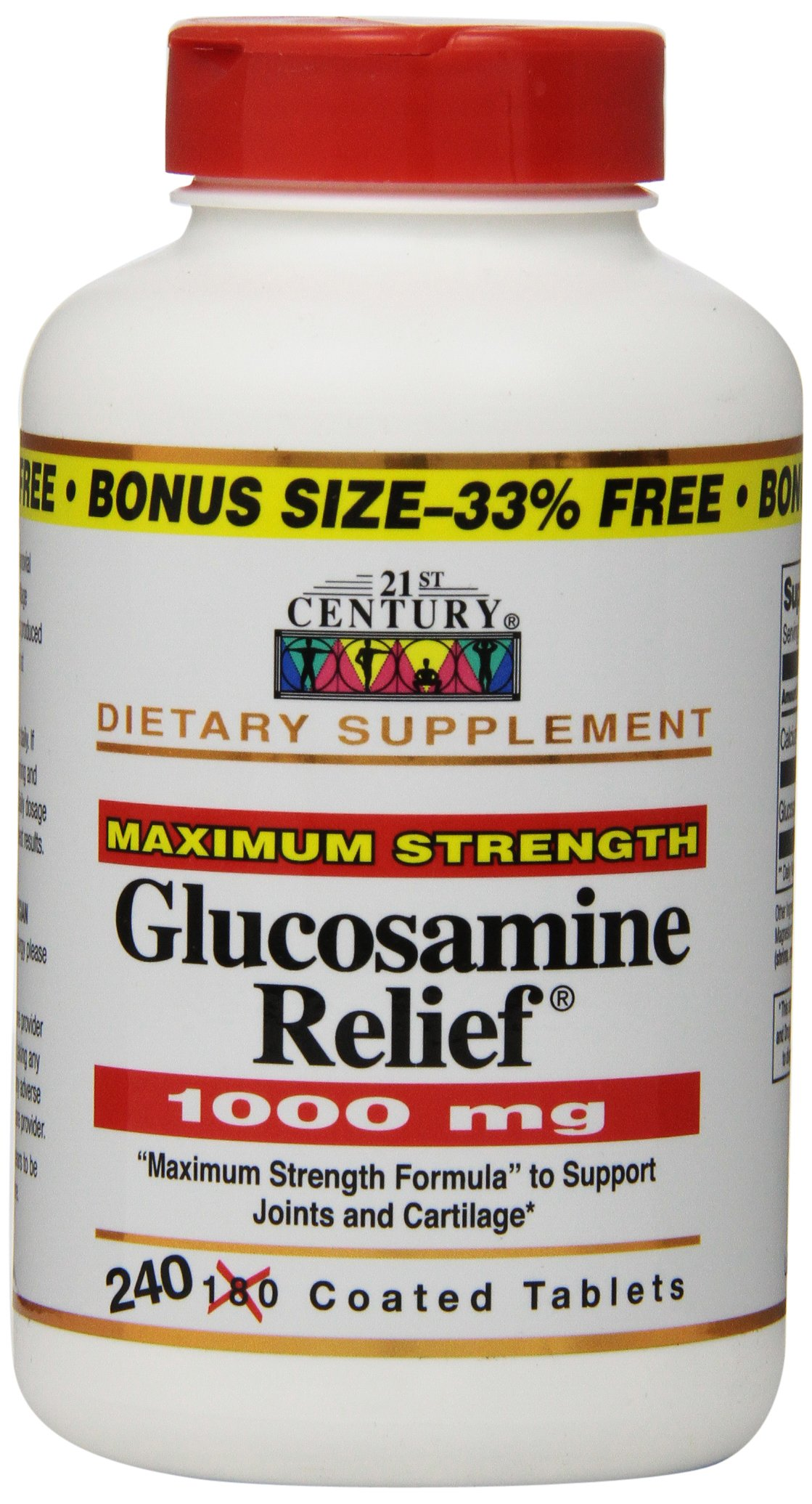 21st Century Glucosamine Relief® 1000mg Tablets, 240 Count