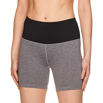 5caca435d9 Reebok Women's Compression Running Shorts - High Waisted Performance  Workout Short