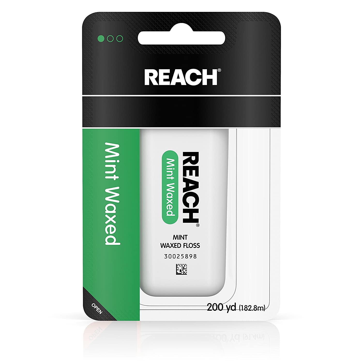 Reach Dental Floss, Waxed, Mint, 200 Yard Johnson & Johnson Reach 381370092346