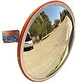JCM-30i Convesso specchio infrangibile traffico, diametro 30 cm, per la sicurezza stradale e la sicurezza negozio con la parete regolabile staffa di fissaggio