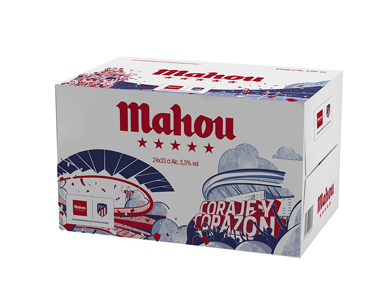 Mahou 5 Estrellas Edición Atletico de Madrid - Cerveza lager ...
