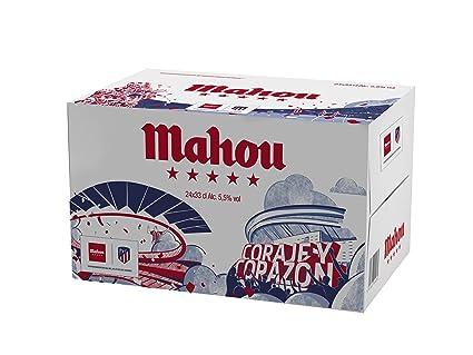 Mahou 5 Estrellas Cerveza lager - Caja de 24 x 0.33 L (Botellas edición limitada