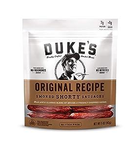 Duke's Original Recipe Smoked Shorty Sausages, 5 Ounce, Pack of 8