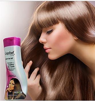 Capibell Shampoo Gusano De Seda Semilla De Lino Y Vitamina E cabello maltratado o seco 470grm