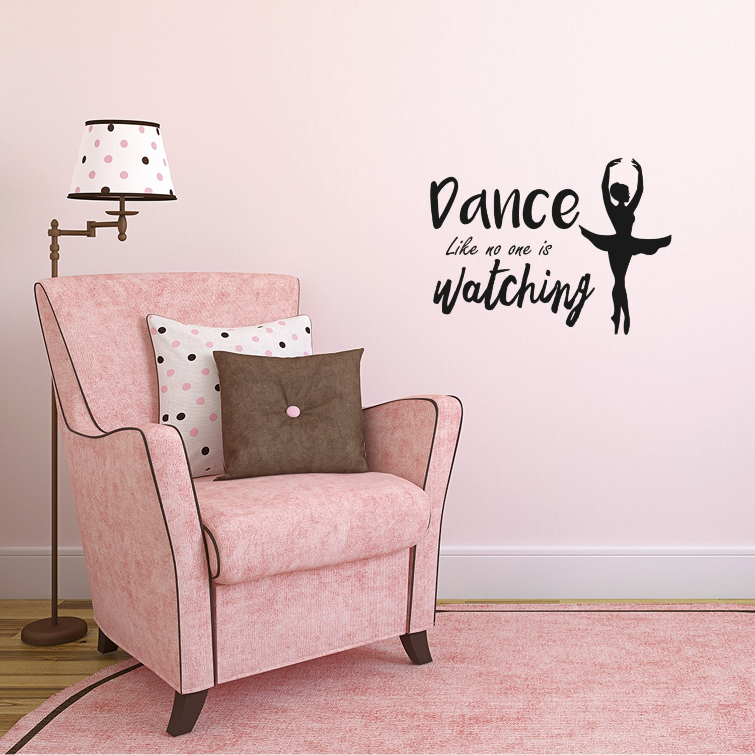Dance Like No One is Watching - Inspirational Quote Wall Art Vinyl Decal - 16'' x 22'' Decoration Vinyl Sticker - Motivational Life Quotes Wall Decal - Ballerina Wall Decor Stickers