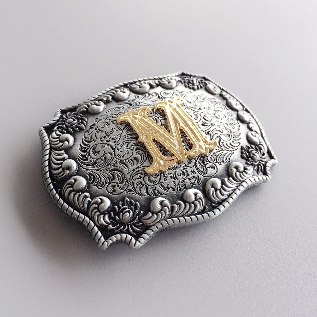 New Initial Letter M Belt Buckle for Men Boucle de ceinture