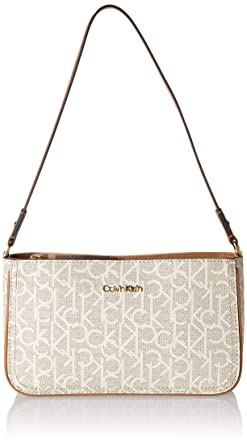 e5ddba0a22c50d Calvin Klein Mercy Signature Triple Entry Demi Shoulder Bag, txt ALM  khk/Cashew, One Size: Handbags: Amazon.com