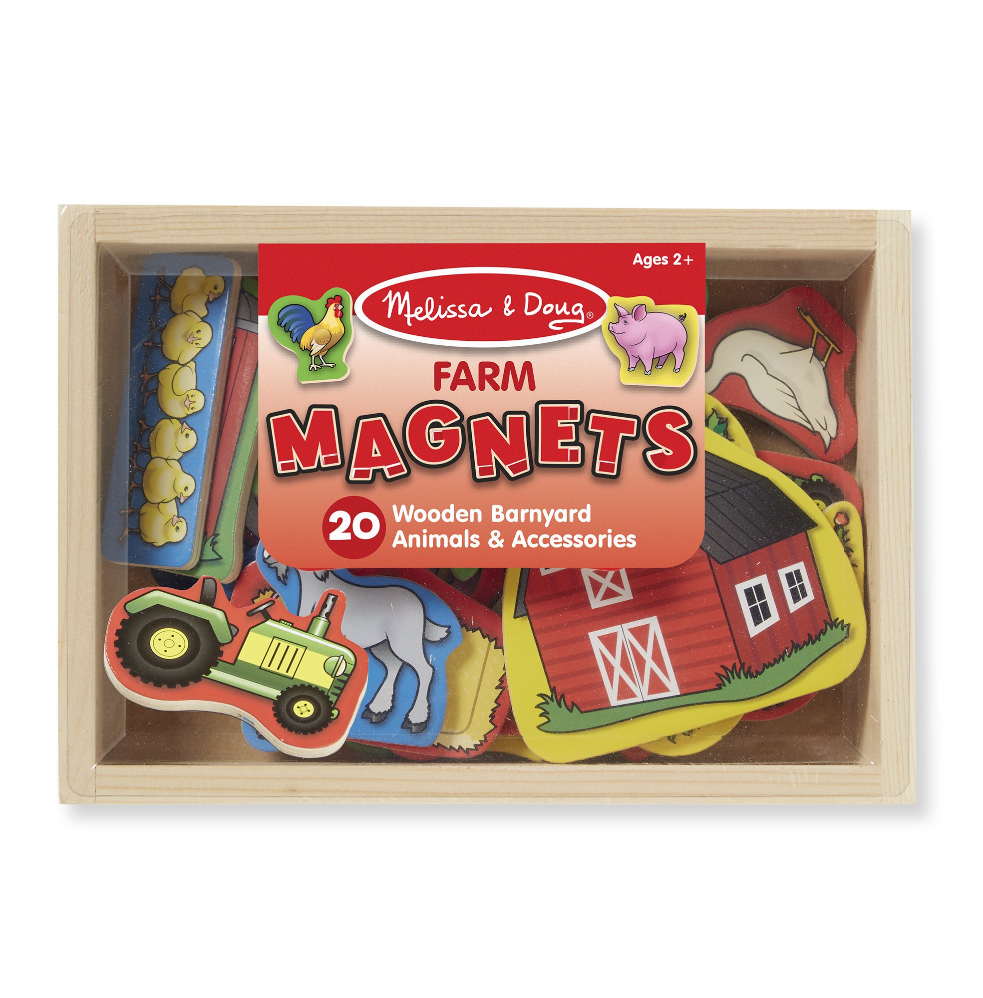 Melissa & Doug 20 Wooden Farm Magnets in a Box by Melissa & Doug