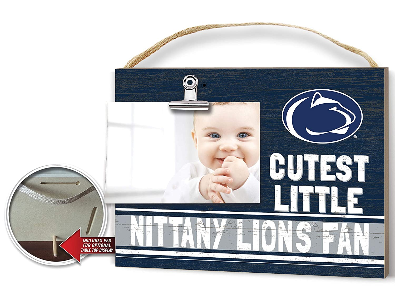 KH Sports Fan Clip It Colored Baby Logo Photo Frame Penn State Nittany Lions
