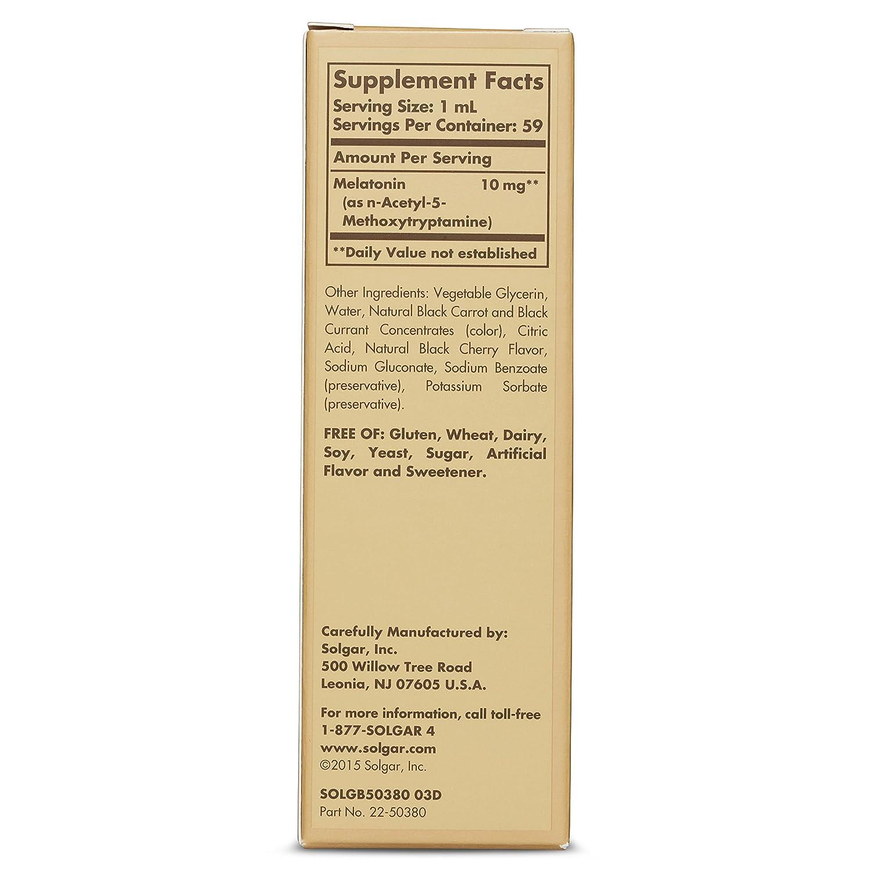 Amazon.com: Solgar – Liquid Melatonin 10 mg, 2 Oz, Natural Black Cherry Flavor (3 Bottles): Health & Personal Care