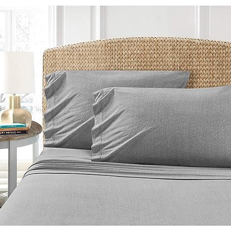 c9d2682d4 Amazon.com  PH 3 Piece Twin Grey Sheet Set