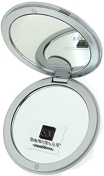 553280bec8 Amazon.com : Danielle Oval Magnification Compact Mirror with Swarovski  Crystals, 5x : Bathing Accessories : Beauty