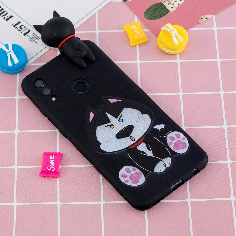 Huawei P Smart Z Silicone Souple 3D Motif Panda Licorne Dr/ôle Etui Antichoc Mince Fine Housse Protection pour Fille Femme Fils Bleu HopMore Compatible pour Coque Huawei Y9 Prime 2019 Chat