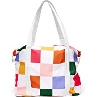 Ban.do Getaway Weekender Bag, Carry On Bag with Exterior Sleeve to Secure to Luggage, Dance Floor
