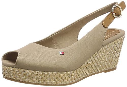 hot sale online 415e2 f854f Tommy Hilfiger Damen Iconic Elba Basic Sling Back Slingback Sandalen