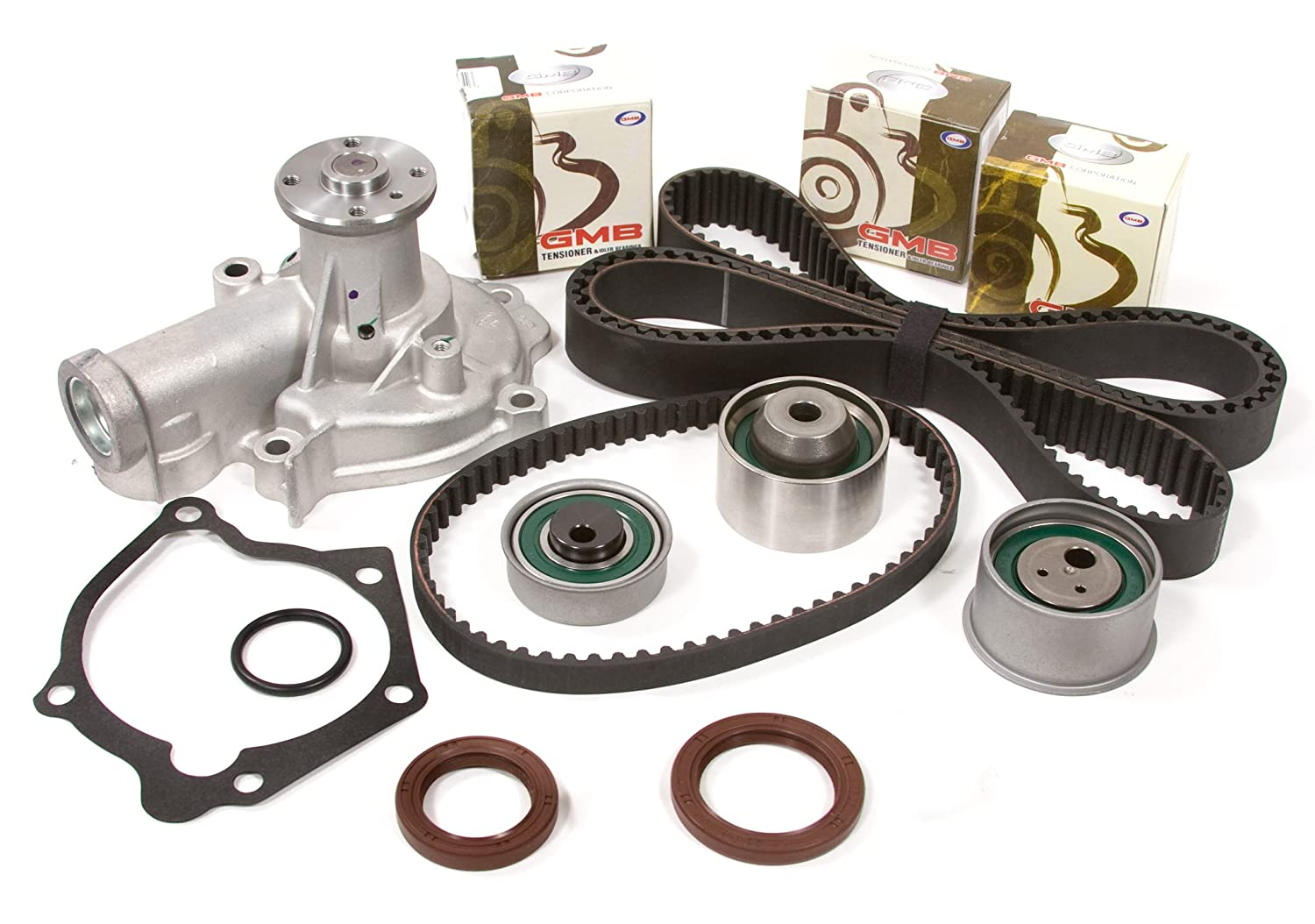 Evergreen Tbk232wpt Mitsubishi Eclipse Galant 24l Sohc 2001 Montero Timing Belt 4g64 Kit Water Pump Automotive
