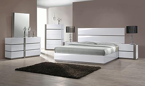 Amazon.com: Milan 4pc-rt Valencia recámara color blanco ...